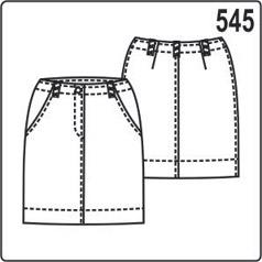 бесплатная выкройка короткой женской юбки