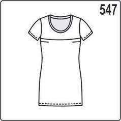 Выкройка летней женской блузки с кокетками и короткими рукавами