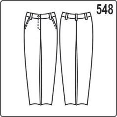 выкройка узких женских брюк
