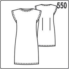 выкройка короткого трикотажного платья со спущенной линией плеча