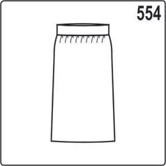 Юбка из хлопка и поясом из трикотажа, размеры выкройки 44-50