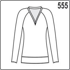 бесплатная выкройка блузки с рукавами реглан