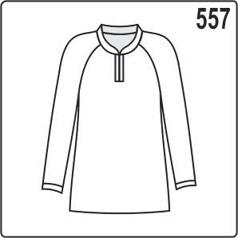 Выкройка блузки с рукавами реглан и контрастными обтачками, размеры 44, 46, 48, 50