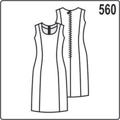 выкройка женского платья футляр без рукавов