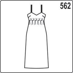 выкройка простого женского платья на бретельках